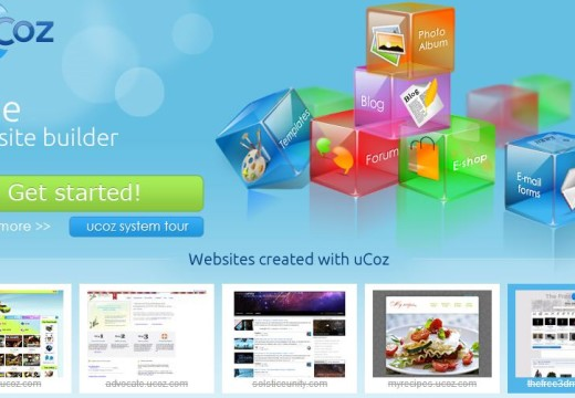 Ucoz – The Perfect Free Website Builder
