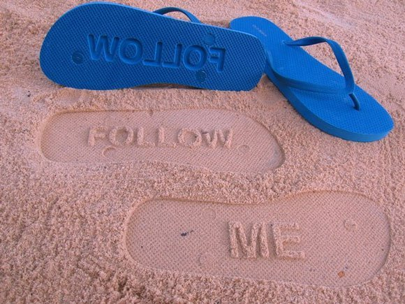 amazing follow me flip flop