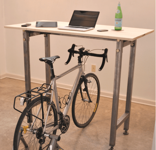 Kickstand lets you go miles on your bike right from your desk