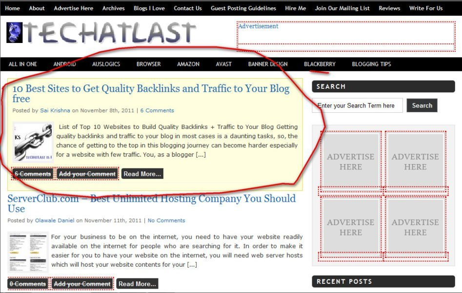 techatlast sticky post sample