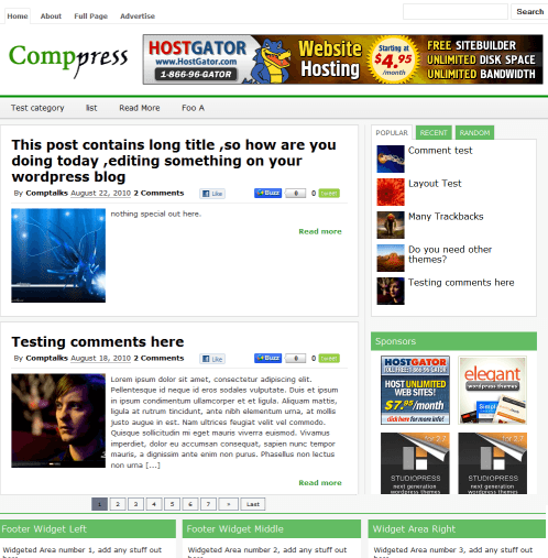 Comppress WordPress Theme Techcrunch theme