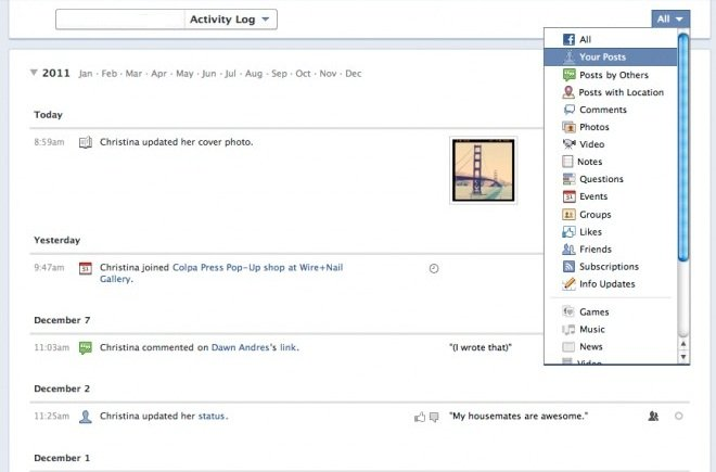 Timeline Activity Log 5 Quick Guides to Facebook Timeline   Learn How to Use it Fast