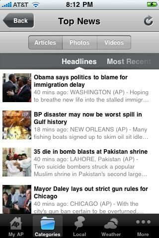 associated press iphone app to check latest news of the world on your iphone device with ease