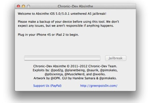 How to Jailbreak iPhone 4S, iPad 2 Untethered on iOS 5.0.1 with Absinthe