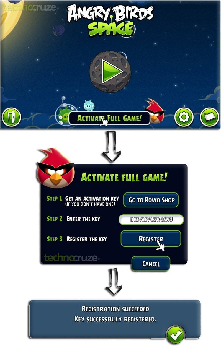 Activate Angry Birds Space full version