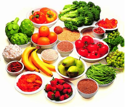 Bright and colourful healthy foods