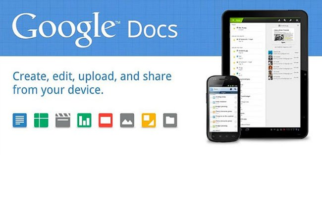 Google Docs 50GB Space storage
