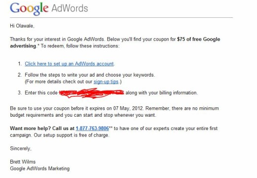 How to Get Free $75 Google Adwords Coupon for Video Adwords Free Advertising