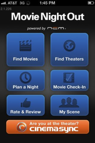 movie nigh out app with cinema sync