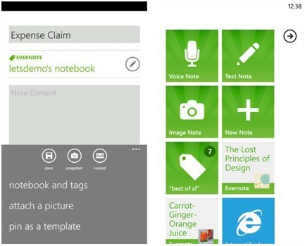 Evernote windows application