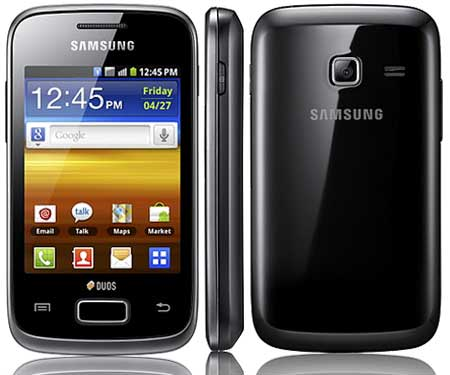 Samsung Galaxy Y Duos is listed among the best Dual sim android phones