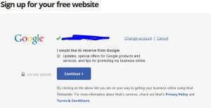 intuit - winsconsin get online google initiative continue to link account with Google account popup