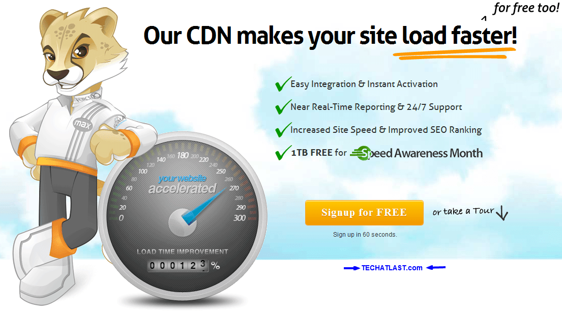 Free 1TB MAXCDN for Speed Awareness Month
