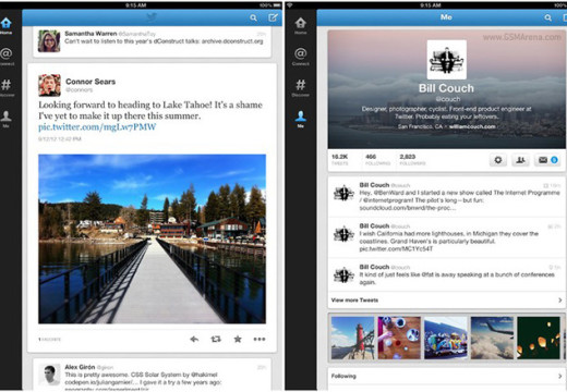 New Twitter app for iPad, iPhone and Android receive updates