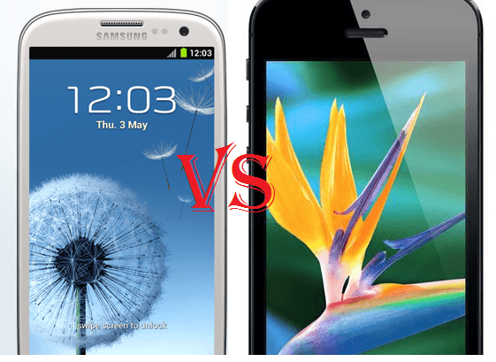 Samsung Galaxy SIII vs iPhone 5 FEATURES