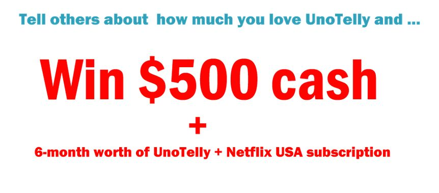 win $500+ from UNOTELLY sharing your experiences