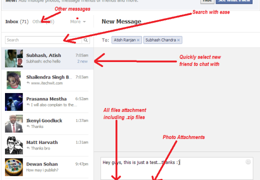 Facebook becomes more fascinating on messaging