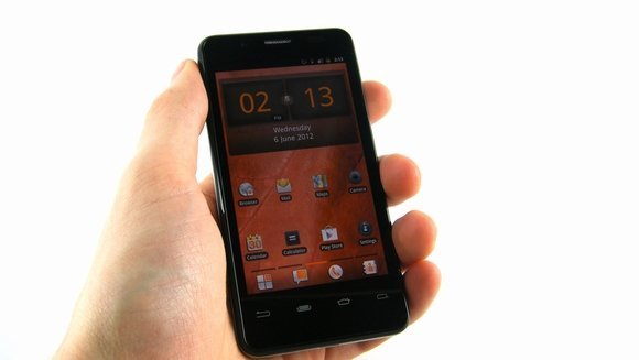 Orange SanDiego smartphone displayed in hands