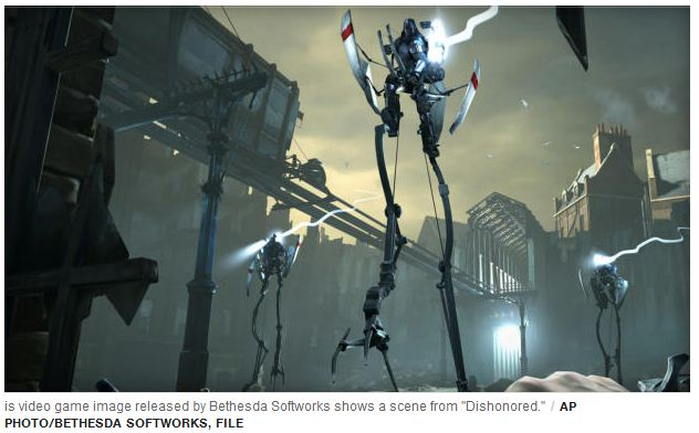 Dishonored, Top video games of 2012