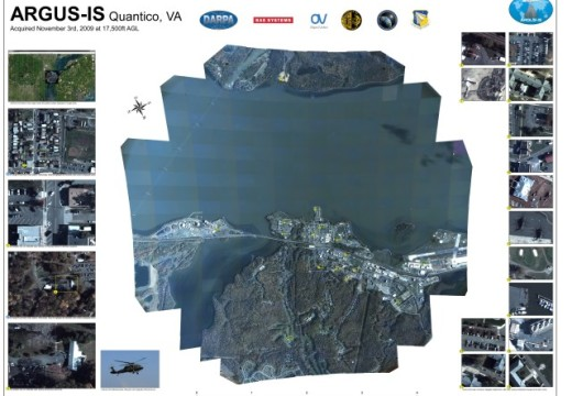 DARPA Showcase world's highest resolution Camera, ARGUS-IS, 1.8-GigaPixel, can spot 6-inch target from 20,000 feet distance