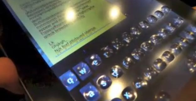 CES 2013 reveals a Tablet that turns itself bumpy when typing