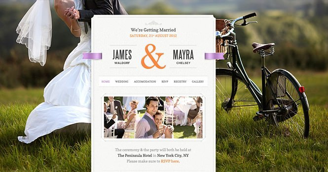 JustMarried Theme is offered for free in TechAtLast Contest