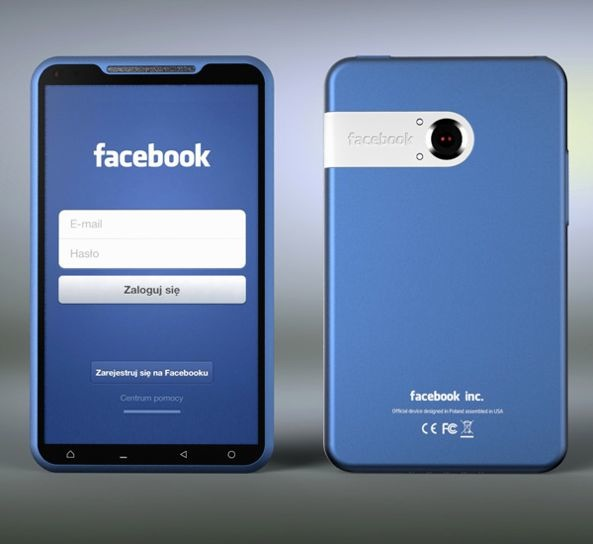 The official Facebook Phone back view Facebook Phone? Whos Going To Buy?