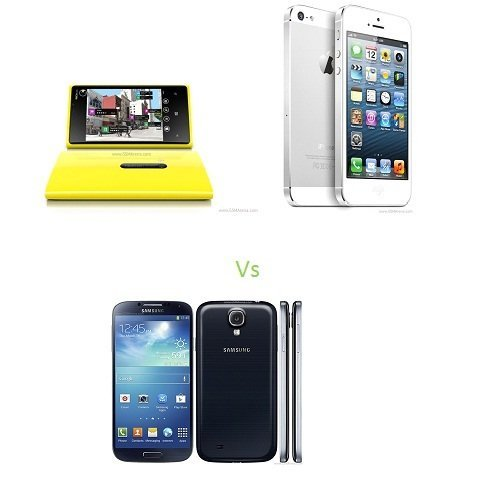 Nokia Lumia 920 Vs iPhone 5 Vs Samsung Galaxy S4