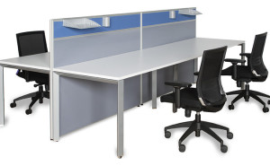 A single Sydney workstation with partitions for four worker