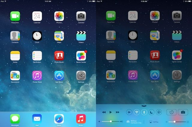 iOS 7 UI for iPad