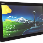 Acer Iconia W3 front view with screen display