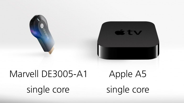 Chromecast and Apple tv processors