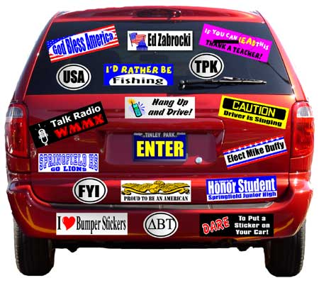 How to Design your own Bumper Stickers and Order Bulk Printing
