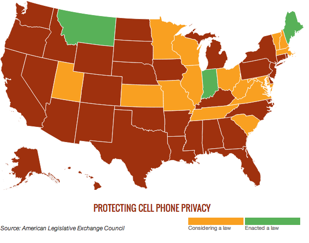 States passing laws to pull the shades on high-tech police snooping on mobile devices