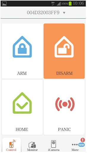 iSmartAlarm application for home security