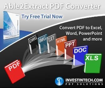 Able2extract, convert PDF to word and other doc