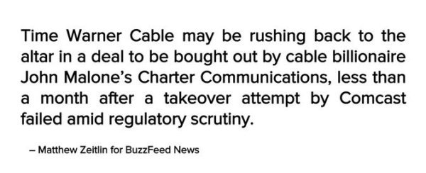 Time Warner cable deal