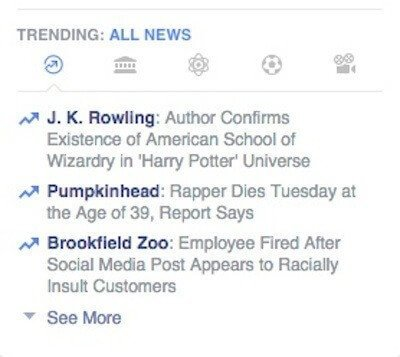 Facebook Trending Topics ALL NEWS
