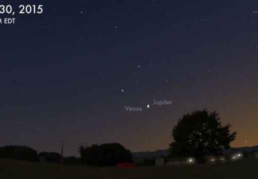 "Venus, Jupiter on an alluring ""collision"" course"