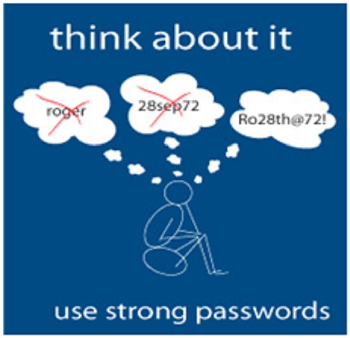 Use strong password to stay secure