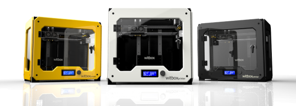 Witbox 3D printer in different colours
