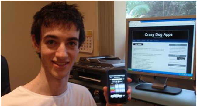 Brandon Cowan, founder of Crazy Dog Apps who lives in Australia