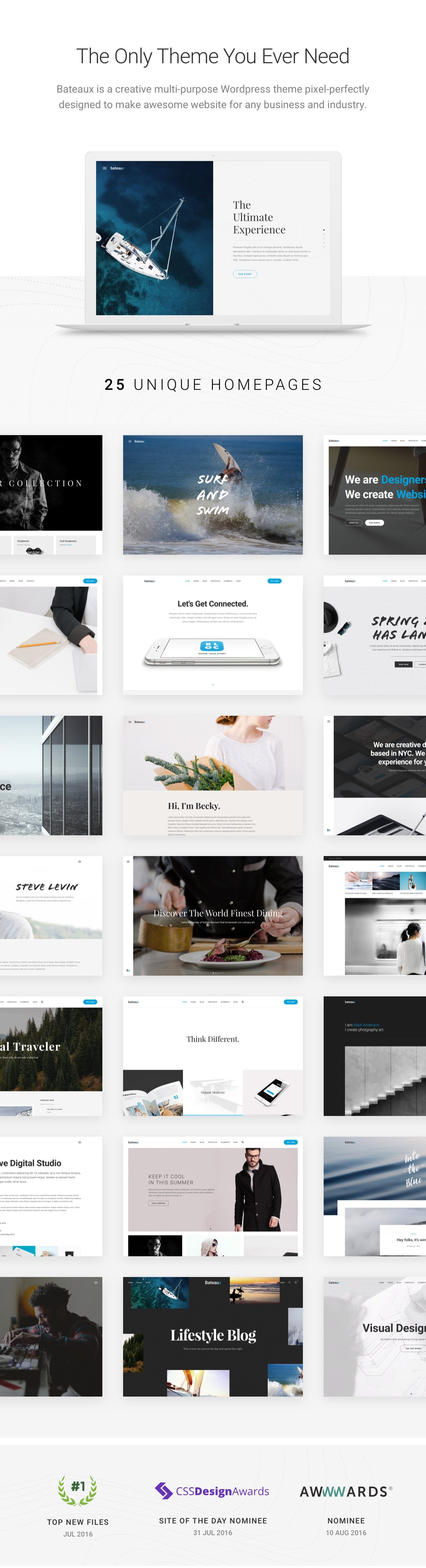 Bateaux WordPress Theme is