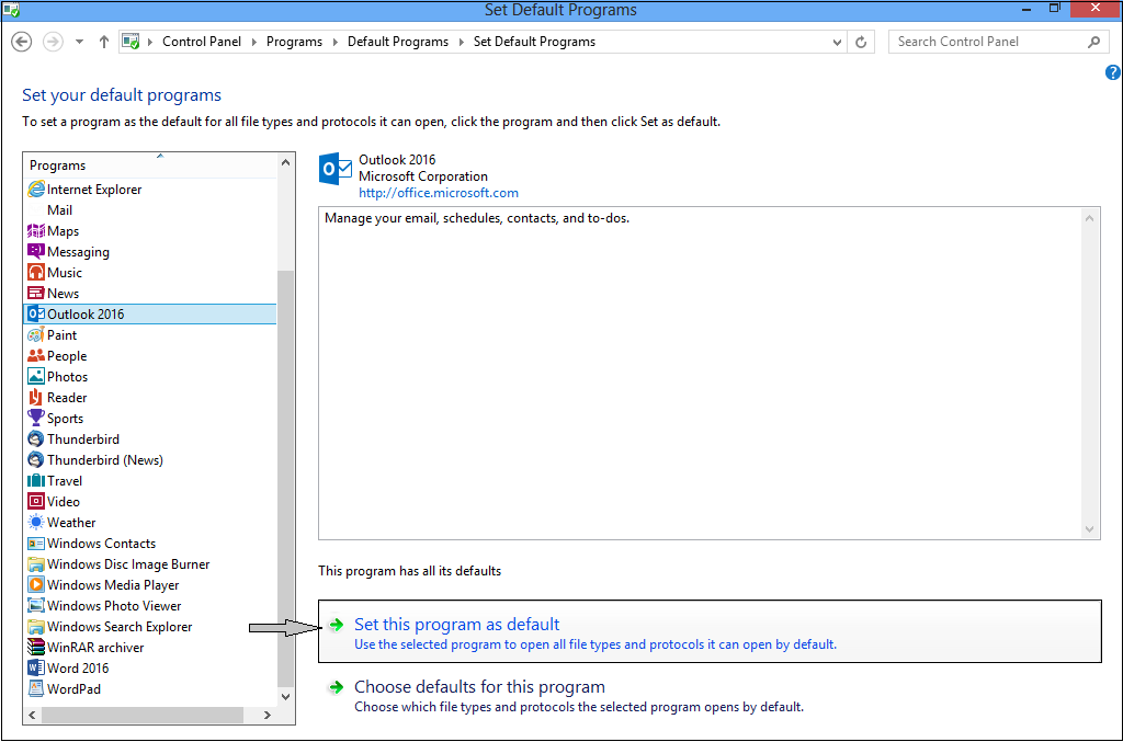 Set As DEFAULT PROGRAMS - IMPORT - How to Migrate Outlook Emails With Ease
