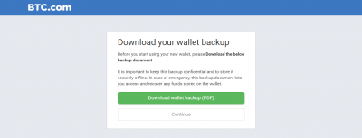 Download your bitcoin wallet backup via PDF