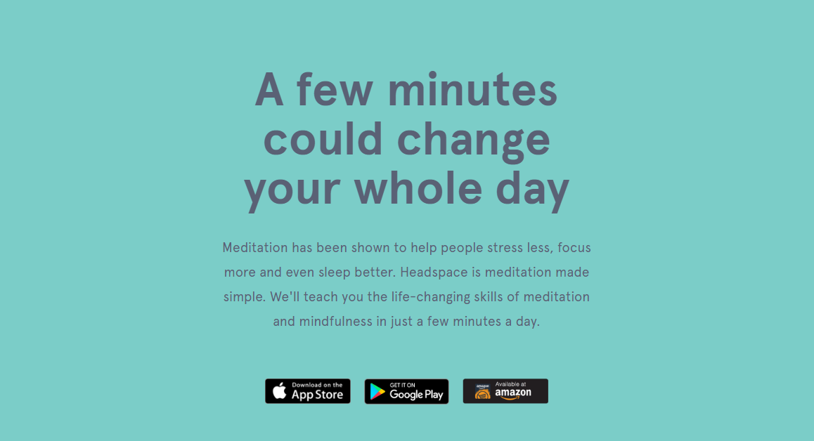 Headspace stress management app works like magic.
