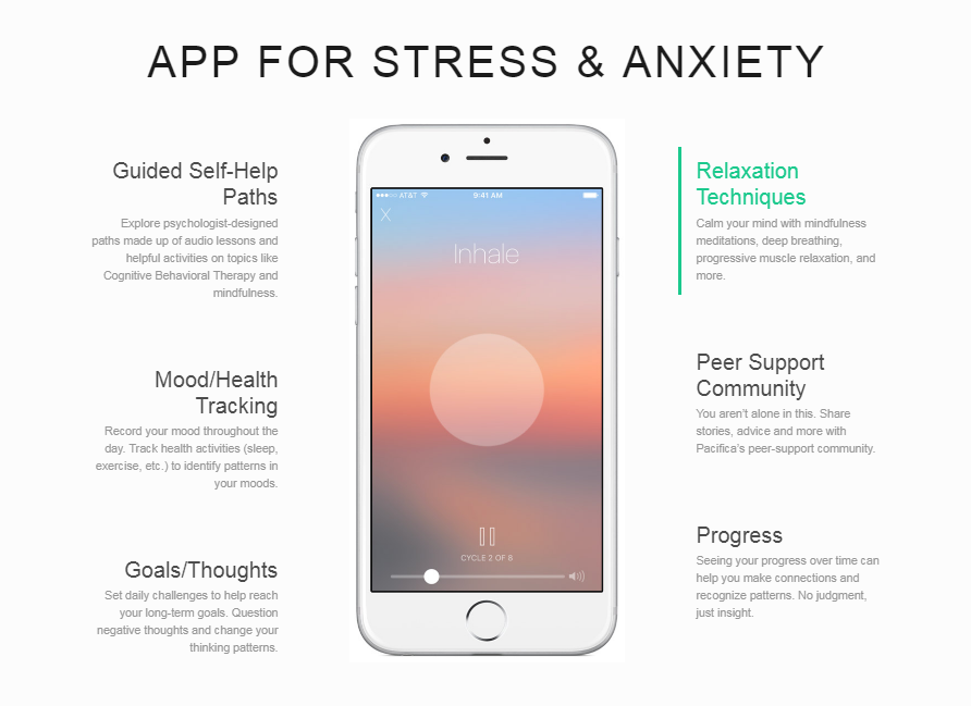 Pacifica app lets you manage stress effortlessly