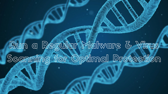 Run a Regular Malware & Virus Scanning for Optimal Protection