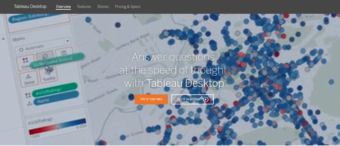 Tableau Desktop Visualization tool