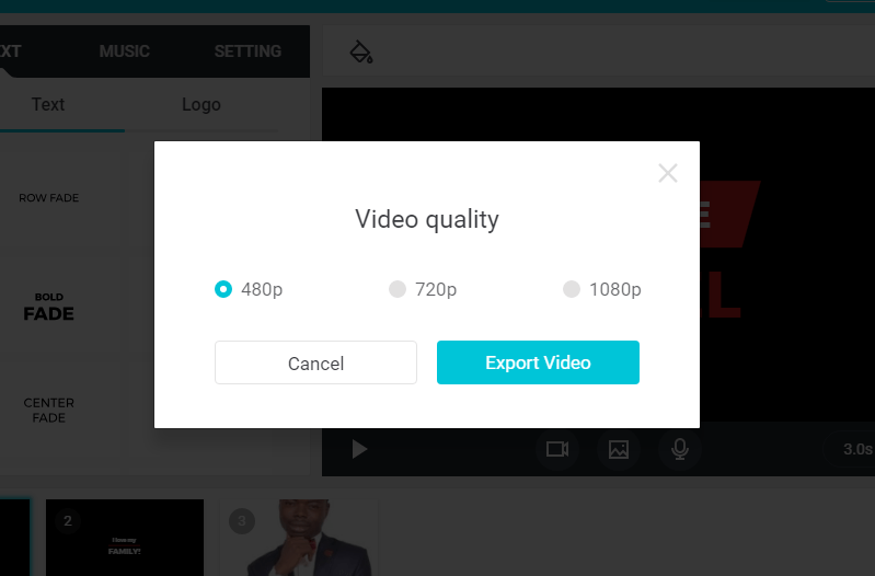 FlexClip allow you to export videos without watermark
